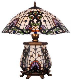 Casa Padrino Tiffany Tischleuchte Bronze / Mehrfarbig 46 x 43, 5 x H. 55, 5 cm - Hotel & Restaurant Tischlampe - Vorschau