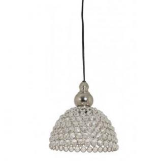 Casa Padrino Hängeleuchte Deckenleuchte Silber Industrial Design Durchmesser 19 x H 19 cm - Industrie Lampe Leuchte Industrieleuchte