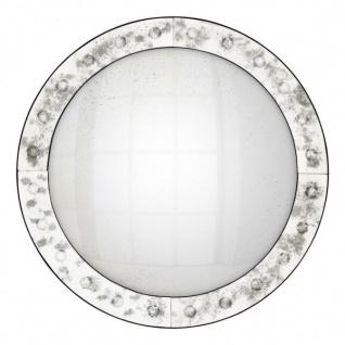 Casa Padrino Luxus Deko Wand Spiegel Art Deco 92 x 92 cm - Antik Stil Spiegel convex - Wandspiegel - Luxus Hotel Möbel Collection