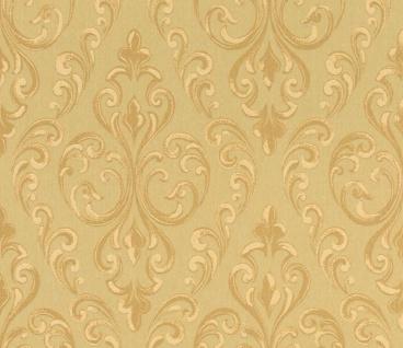 Casa Padrino Barock Textiltapete Gold 10, 05 x 0, 53 m - Hochwertige Wohnzimmer Tapete