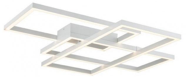 Casa Padrino Designer LED Deckenleuchte Weiß 78 x 68 x H. 8 cm - Luxus Kollektion