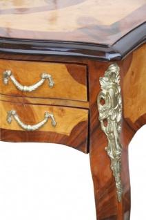 Casa Padrino Luxus Barock Schreibtisch Mahagoni Wurzelholz Furnier 100 x 80 x 58 cm- Sekretär Luxus Möbel - Vorschau 3