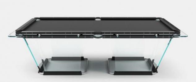 Casa Padrino Luxus Designer Pool Billardtisch 8ft Schwarz 260 x 148 x H. 82 cm - Hotel Kollektion - Luxus Qualität