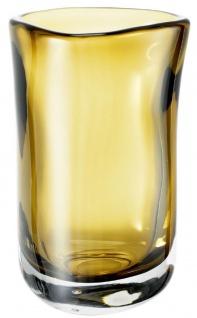 Casa Padrino Luxus Deko Glas Vase Gelb Ø 14 x H. 22 cm - Mundgeblasene Blumenvase - Luxus Deko Accessoires