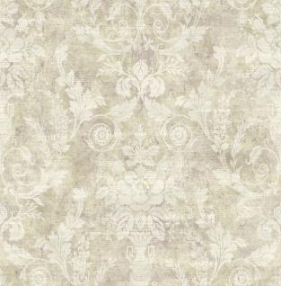 Casa Padrino Barock Papiertapete Beige / Creme - 10, 00 x 0, 52 m - Edle Mustertapete im Barockstil