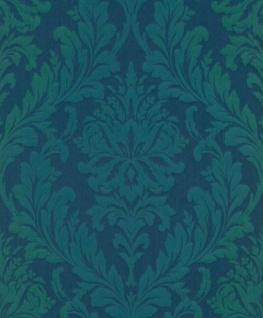 Casa Padrino Barock Textiltapete Blau / Grün 10, 05 X 0, 53 M   Wohnzimmer  Tapete   Deko Accessoires Im Barockstil