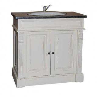 Casa Padrino Landhaus Stil Waschschrank Waschtisch inkl 1 Waschbecken Venice - Bad Schrank - Vorschau 3