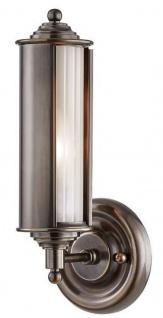 Casa Padrino Luxus Wandleuchte Bronze / Weiß 12, 1 x 12, 7 x H. 31, 1 cm - Luxus Kollektion