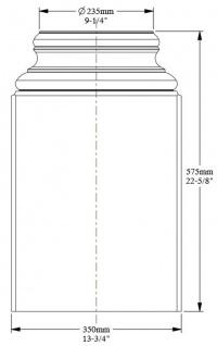 Casa Padrino Barock Zierelement Säulenfuß Sockel Weiß 35 x 17, 5 x H. 57, 5 cm - Prunkvolle Wanddeko - Barock Deko - Vorschau 3