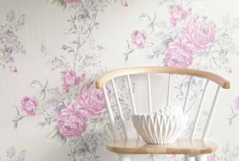 Casa Padrino Barock Textiltapete Creme / Rosa / Grün / Grau 10, 05 x 0, 53 m - Tapete mit Blumenmuster - Vorschau 3