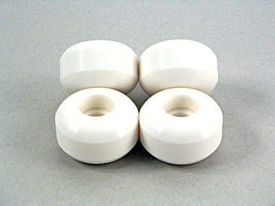 50mm Blank Wheels Weiß