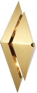 Casa Padrino Luxus Wohnzimmer Wandleuchte Gold 26 x 11, 5 x H. 39 cm - Designer Leuchte