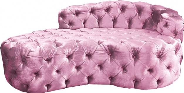 Casa Padrino Luxus Chesterfield Samt Chaiselongue - Verschieden Farben - Wohnzimmer Möbel - Chesterfield Möbel