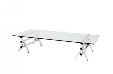 Casa Padrino Luxus Art Deco Designer Couchtisch 170 x 100 x H. 31-42 cm - Wohnzimmer Salon Tisch - Luxus Möbel