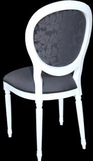 Casa Padrino Design Esszimmerset Weiß - Ausziehbar Esstisch + 6 Stühle - Vorschau 5