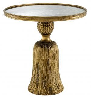 Casa Padrino Wohnzimmer Beistelltisch Antik Gold 53 x H. 53, 5 cm - Luxus Möbel