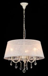 Casa Padrino Barock Decken Kristall Kronleuchter Elfenbein 55 x H 45 cm Antik Stil - Möbel Lüster Leuchter Hängeleuchte Hängelampe