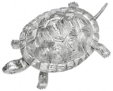 Casa Padrino Luxus Schatulle mit Deckel Schildkröte Messing vernickelt 19, 5 x 10, 5 x H. 6, 5 cm - Luxus Dekoration - Vorschau 4