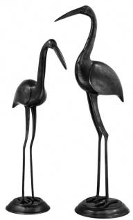 Casa Padrino Luxus Bronzefiguren Störche 2er Set - Edel & Prunkvoll