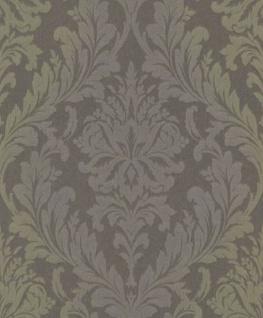Casa Padrino Barock Textiltapete Grau / Grün / Lila 10, 05 x 0, 53 m - Wohnzimmer Tapete - Deko Accessoires im Barockstil