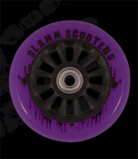 Slamm Profi Scooter Rolle NY Core Purple 110mm / 88A (1 Rolle) inkl Koston Abec 7 Kugellager