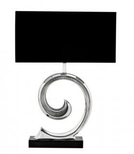 Casa Padrino Luxus Tischleuchte Nickel Durchmesser 35 x 55 x H 70 cm - Luxus Hotel Leuchte