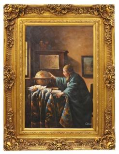 Casa Padrino Barockstil Öl Gemälde Der Entdecker Gold Prunk Rahmen 100 x H. 130 cm - Barock Möbel