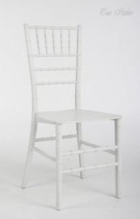 Casa Padrino Designer Stuhl - Ghost Chair Weiß - Polycarbonat Möbel - Polycarbonat Stuhl- Acryl Stuhl - Geisterstuhl