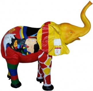 Casa Padrino Designer Dekofigur Elefant Mehrfarbig 160 x H. 160 cm - Riesige Deko Skulptur - Gartendeko