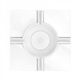 Casa Padrino Luxus Wand Spiegel Art Deco Weiß / Spiegelglas 61 x 61 cm - Wandspiegel