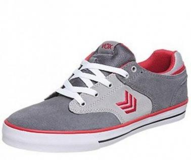 Vox Skateboard Weiß Schuhe Lockdown Grau ROT Weiß Skateboard 4c2f9a