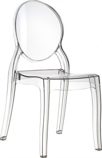 Casa Padrino Designer Stuhl Elisabeth - Ghost Chair Clear - Polycarbonat Möbel