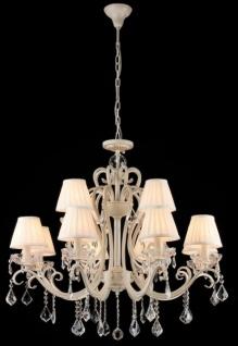 Casa Padrino Barock Kristall Decken Kronleuchter Cream Gold 86 x H 82 cm Antik Stil - Möbel Lüster Leuchter Hängeleuchte Hängelampe