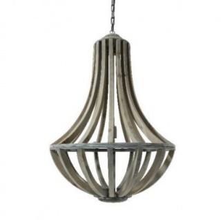 Casa Padrino Hängeleuchte Deckenleuchte Braun Durchmesser 61 x H 90 cm - Möbel Lüster Leuchter Deckenleuchte Deckenlampe