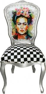 Casa Padrino Barock Luxus Esszimmer Stuhl Madmoisell Silber - Designer Stuhl - Luxury Möbel