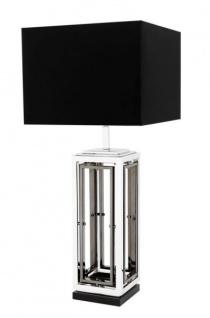 Casa Padrino Luxus Tischleuchte Nickel Durchmesser 20 x 40 x H 96 cm - Leuchte - Tischleuchte - Vorschau 1