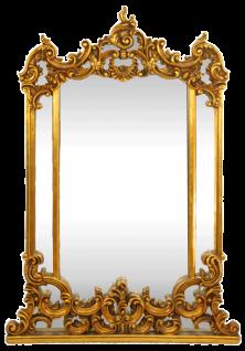 Casa Padrino Barock Wandspiegel Gold 90 x H. 125 cm - Handgefertigter Spiegel mit prunkvollen Verzierungen - Möbel im Barockstil