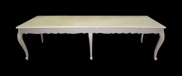 Casa Padrino Barock Esstisch mit Glasplatte 300 x 88 x H. 83 cm - Luxus Esstisch