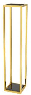 Casa Padrino Luxus Beistelltisch Gold 25 x 25 x H. 120 cm - Designer Tisch Möbel - Vorschau