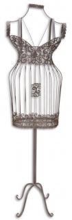Casa Padrino Jugendstil Schneiderbüste Braun 36, 2 x 19, 5 x H. 140, 5 cm - Metall Mannequin Damenbüste Schneiderpuppe