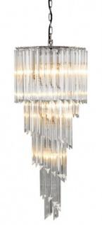 Casa Padrino Luxus Hängeleuchte Eiszapfen Glas 95 x 40 cm - Art Deco Hotel / Restaurant Lampe - Eindrucksvolle Leuchte