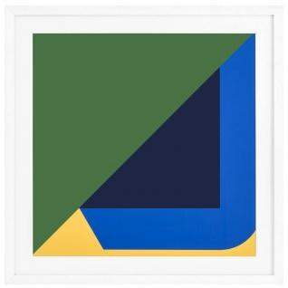 Casa Padrino Designer Bild Moderne Kunst Mehrfarbig / Weiß 85 x H. 85 cm - Kunstdruck - Wandbild - Büro Deko - Wohnzimmer Deko - Luxus Wanddeko