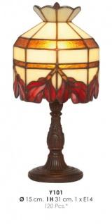 Casa Padrino Tiffany Tischleuchte Ø 15 x H. 31 cm - Handgefertigte Tischlampe - Luxus Qualität