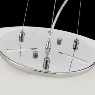 Casa Padrino Luxus Hängeleuchte Weiß / Silber Ø 40 x H. 10 cm - Wohnzimmer Hängelampe - Vorschau 5