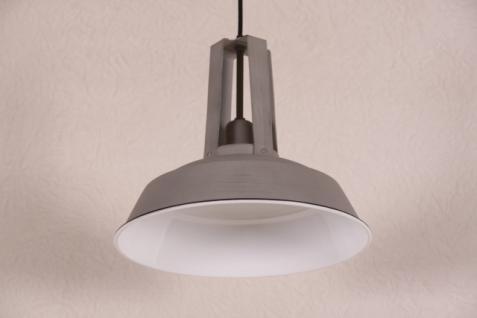 Casa Padrino Vintage Industrie Hängeleuchte Antik Stil Hellgrau Metall Durchmesser 34cm - Restaurant - Hotel Lampe Leuchte - Industrial Leuchte