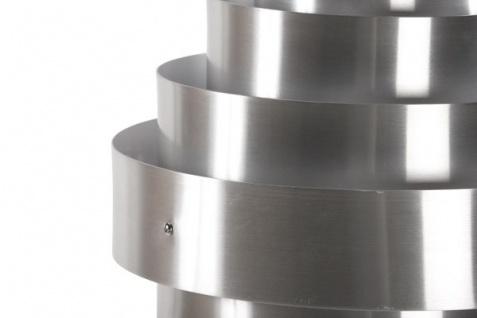 Casa Padrino Designer Pendelleuchte aus gebürstetem Aluminium, Silber - Leuchte Lampe - Vorschau 5