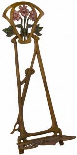 Casa Padrino Jugendstil Gusseisen Staffelei Antik Braun Rostoptik / Mehrfarbig H. 42, 5 cm - Barock & Jugendstil Deko Accessoires