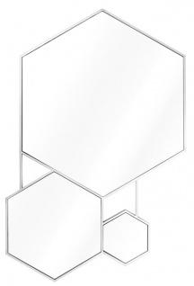 Casa Padrino Luxus Spiegel Silber 87 x H. 132 cm - Wohnzimmerspiegel
