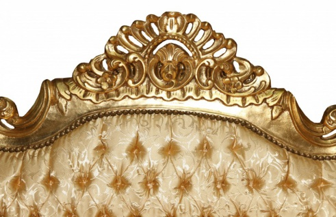 Casa Padrino Barock Sofa 3er Master Gold Muster /Gold- Antik Möbel - Vorschau 3