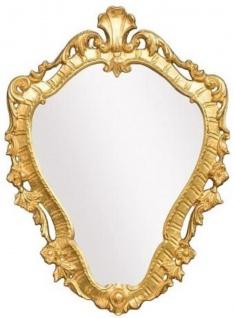 Casa Padrino Luxus Barock Spiegel Gold 41 x 3 x H. 57 cm - Wandspiegel im Barockstil - Edel & Prunkvoll